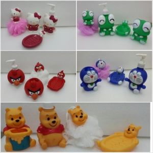 bathroom set Hello kitty, Doraemon, Angry Bird, Pooh, keroppy
